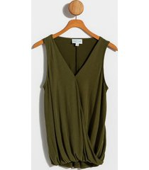 kasely surplice tank top - olive