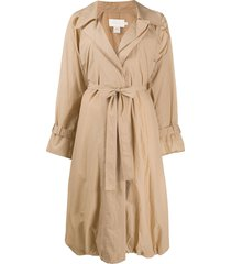 low classic lightweight belted trench coat - neutrals