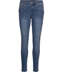 hostacr jeans - baiily fit skinny jeans blå cream