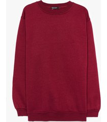 womens where there's a chill oversized plus sweatshirt - maroon