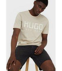 hugo dolive203 t-shirt t-shirts & linnen medium beige