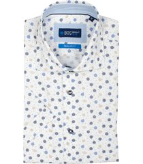 bos bright blue leo short slv shirt cut away 21107le44bo/500 multicolour