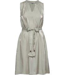crcecilie sleeveless dress knälång klänning grå cream