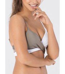 bikini beachlife witte voorgevormde zwempak top met beugel