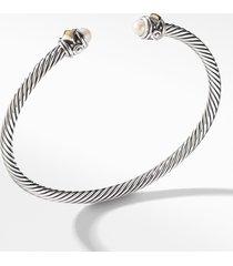 david yurman renaissance bracelet with 18k gold, size large in pearl at nordstrom