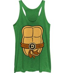 fifth sun teenage mutant ninja turtles women's donatello body tri-blend tank top