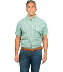 camisa de vestir verde/azul