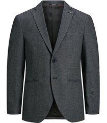 blazer textured single-breasted