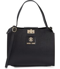 roberto cavalli women's 2-piece crossbody bag & pouch set - nero