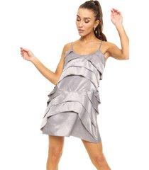 vestido plateado zulas adelfa