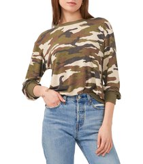 1.state tie back sweatshirt, size xx-small in avenue camo at nordstrom