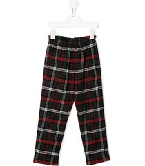 bonpoint plaid fetiche trousers - black