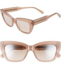 women's rebecca minkoff imogen1 53mm cat eye sunglasses - nude/ brown mir grad