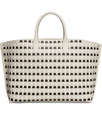 akris medium ai woven leather tote -