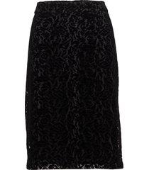 gail knälång kjol svart stylein