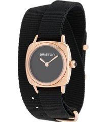 briston watches clubmaster watch - black