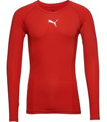 liga baselayer tee ls t-shirts football shirts röd puma