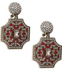 goldtone & crystal drop earrings