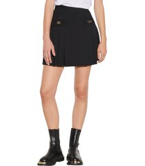 sandro pleated wool skirt, size 2 in black at nordstrom