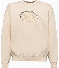 sporty & rich sporty and rich equestrian club sweatshirt