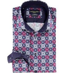cavallaro overhemd donkerblauw met rondjes