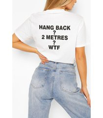 """hang back"" printed t-shirt, white"