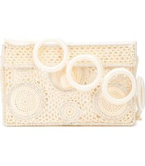 sophie anderson crocheted box clutch - white