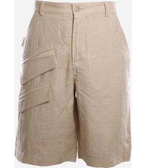 jacquemus shorts le short raphia in linen