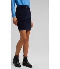 falda mini de cotelé azul marino esprit