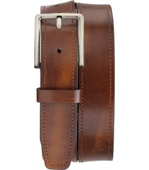 men's trask keystone leather belt, size 34 - cognac italian stained calf
