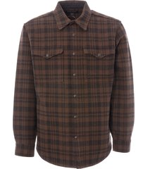filson beartooth jac-shirt - dark brown & charcoal 20067693