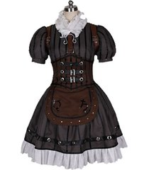 alice madness returns steam dress cosplay costume alice women brown outfit