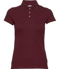 core polo t-shirts & tops polos röd hollister