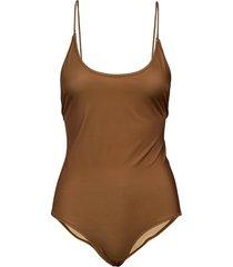 kara body 11032 baddräkt badkläder brun samsøe samsøe