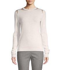 jewelneck wool sweater