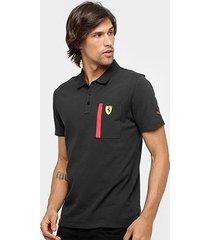 camisa polo puma scuderia ferrari masculina