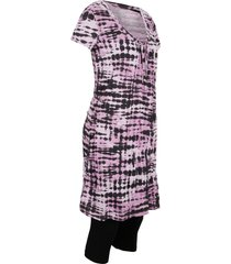 tunica lunga e leggings a pinocchietto (set 2 pezzi) (viola) - bpc bonprix collection