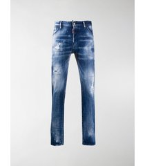 dsquared2 paint-splatter distressed-effect jeans