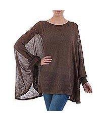 cotton blend sweater, 'desert breeze' (peru)