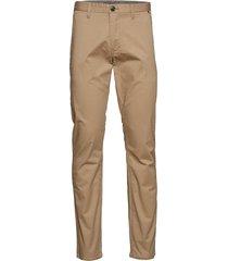 pristu cm garment dyed sateen chino broek beige matinique