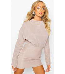 glitter pleated batwing bodycon dress, mauve