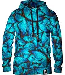 męska bluza z kapturem dr.crow motyle blue