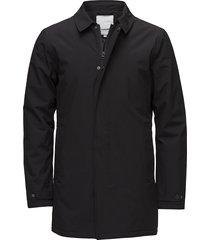 slim coat dunne lange jas zwart lindbergh