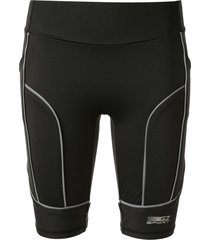 ground zero reflective sporty panel shorts - black