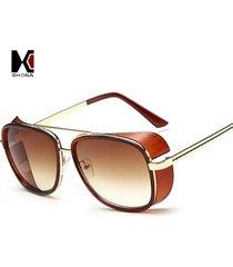 women's sunglasses 3 square pu glass