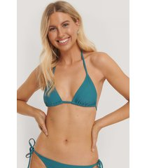 na-kd swimwear triangle bikini top - turquoise
