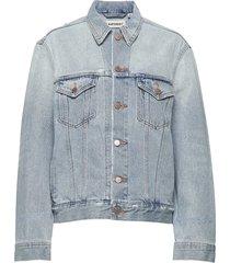 boyfriend trucker jacket jeansjacka denimjacka blå superdry