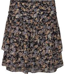 rok met bloemenprint lara  zwart