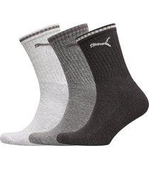 puma sport crew stripe 3p underwear socks regular socks grå puma