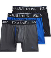 polo ralph lauren men's 3-pk. 4-d flex cool microfiber boxer briefs
